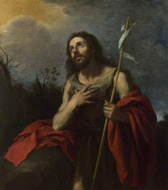 """Saint John the Baptist in the Wilderness 1660-70,"" attributed to Bartolomé Esteban Murillo"